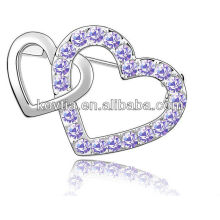 Hottest heart shape diamond jewelry wholesale cheap brooch