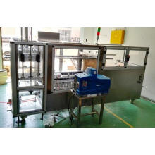 Erector de caja de acero inoxidable con sistema de pegamento Hot Melt