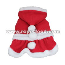 Santa Costume Christmas Pet Clothes Hoodie Coat Clothing