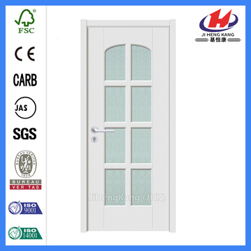 *JHK-G19 Glass Doors For Cold Rooms French Fire Doors Solid White Interior Doors