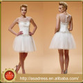 DMO01 Plus Size Custom Made Sexy White Short Mini Tulle Lace Appliqued Cocktail Ladies Dress