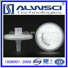 0,22um Pore Hydrophilic PVDF Syringe Filter