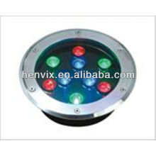 high quality 9w led underground light rgb