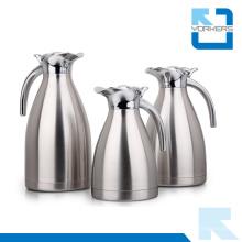 Venta caliente 1.0L / 1.5L / 2.0L de doble pared de acero inoxidable de agua jarra y café Carafe