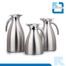 Hot Sale 1.0L / 1.5L / 2.0L à double paroi en acier inoxydable Cruche à l'eau et café Carafe
