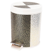 Round Foot Pedal Leatherette Dustbin