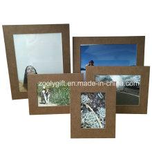 4 X6 коричневый текстурированный шаблон бумаги фоторамки