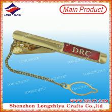 Alta calidad corbata clip regalo corbata clip corbata con cadena