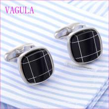 VAGULA Qualität Heiße Verkäufe Qualität Onyx Silber Gemelos Manschettenknöpfe (322)