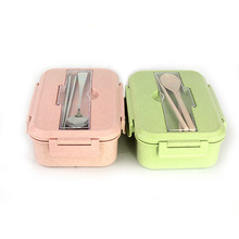Microwave Meal prep Bento Lunch Box container plastic kids lunch box with spoon