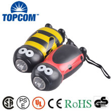 Animal Shaped ABS Plastic Hand Crank Flashlight