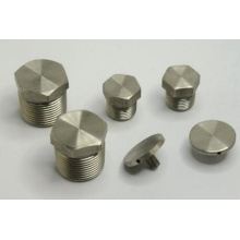 CNC lathe machining Brass hex head plug