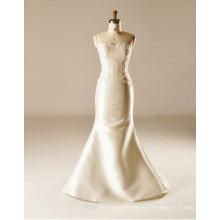 Русалка Атласная Этаж Длина Свадебное Платье Без Бретелек