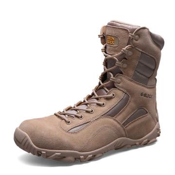 Nuevo diseño botas de cuero auténtico del desierto y botas tácticas de la selva (31003)