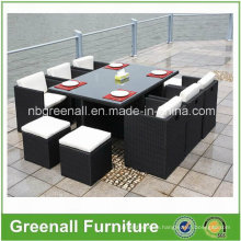 Outdoor 6 Person Dining Cube Rattan Furniture