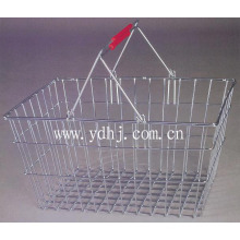 Handle Wire Mesh Metal Shopping Basket