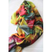 200er / 2er Wolle Kammgarn benutzerdefinierte gedruckt Schals Schal
