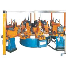 8 stations rotary metal polishing machine