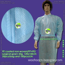PE Coated Non-Woven Surgical Gown