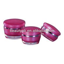 Pot de maquillage acrylique aux champignons