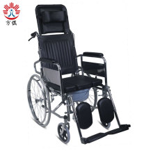 Reclining Wheelchair Commode Chair Over Toilet With Wheels