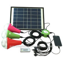 2014 Latest solar indoor lamp with bracket solar led home lights