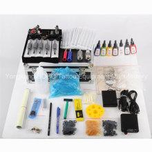 Produtos completos de kits de tatuagem com conjuntos de máquinas com duas armas