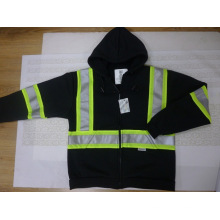 Reflective Safety Hoodie with Detachable Hood