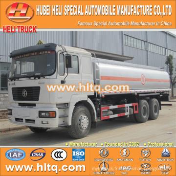 SHACMAN F3000 6X4 22000L camion de carburant avec pompe à huile vente chaude en Chine