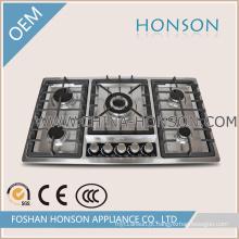 Fogão de gás incorporado do fogão de gás de 5 queimadores para dispositivos de cozinha
