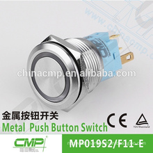 CMP metal waterproof 19mm 1NO1NC dual led color pushbutton switch