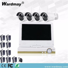 "4chs Wireless Wifi Camera Kit dengan 10.1 ""Screen"