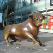 Décoration de jardin extérieur en métal bronze taureau sculpture
