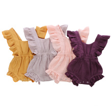 Baby Clothes Newborn Clothing Girl Jumpsuits Plain Muslim Cotton Baby Romper in Bulk Sale