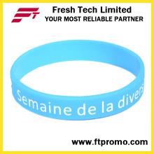 Moda promocional pulseira de silicone ecológica