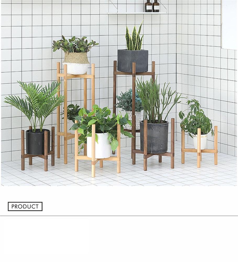 simple wooden flowerpot shelf