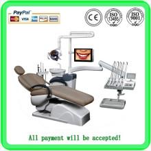 Heißer Verkauf - 2015 Spätester zahnmedizinischer Stuhl mit Multifunktionsfußsteuerpult