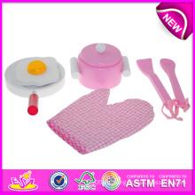 Juego de cocina de juguete de madera para niños, juego de rol Juguete de cocina de madera para niños, juguete de cocina DIY para bebé W10b084