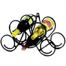 Powder Coating Metal Wire 5 Bottles Tabletop Wine Rack
