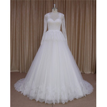 a line fashionable wedding gown muslim wedding dress pictures
