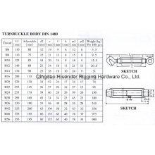 DIN1480 Turnbuckle, Zinc Plated