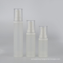 15ml 30ml 50ml low MOQ frosted plastic airless perfume bottle with mist pump in stock frosted lotion bottle