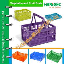 plastic storage crate with handle/portable plastic crate