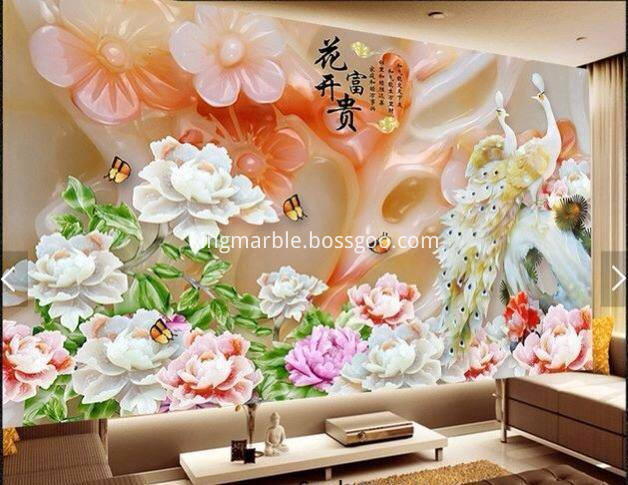 pvc marble wall panel 3D
