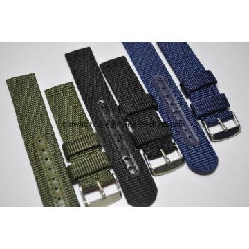 Correa de banda de reloj de nylon impermeable militar de la infantería de la calidad