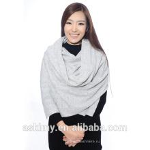 Чистый шерстяной женский белый шарф