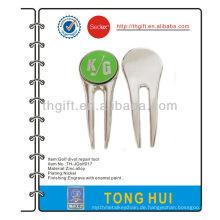 Metall kundenspezifische Design Golf Divot Reparatur Werkzeug / Nickel plating