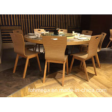 Modern Wooden Restuarant Dining Table and 8 Chairs