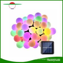 20/30/50 luces de la secuencia de la bola del LED Luz solar de la Navidad que adorna la iluminación decorativa para las decoraciones del partido del jardín Patio del jardín casero