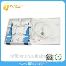Ftth 2 porta mini caixa de terminais de fibra óptica para rede